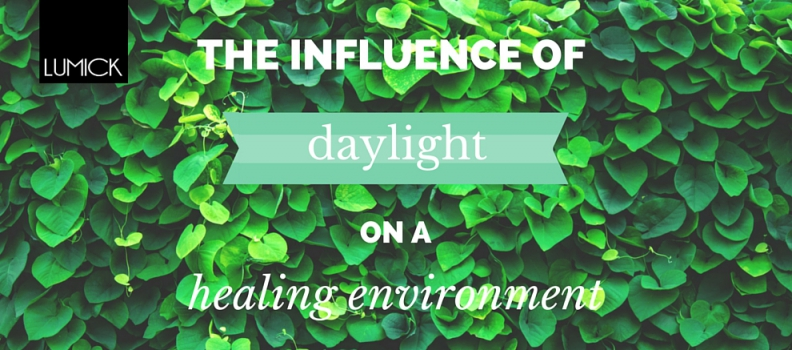 The beneficial effects of LED simulated daylight in a healing environment